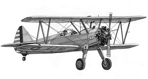 Boeing-Stearman Model 75 Biplane